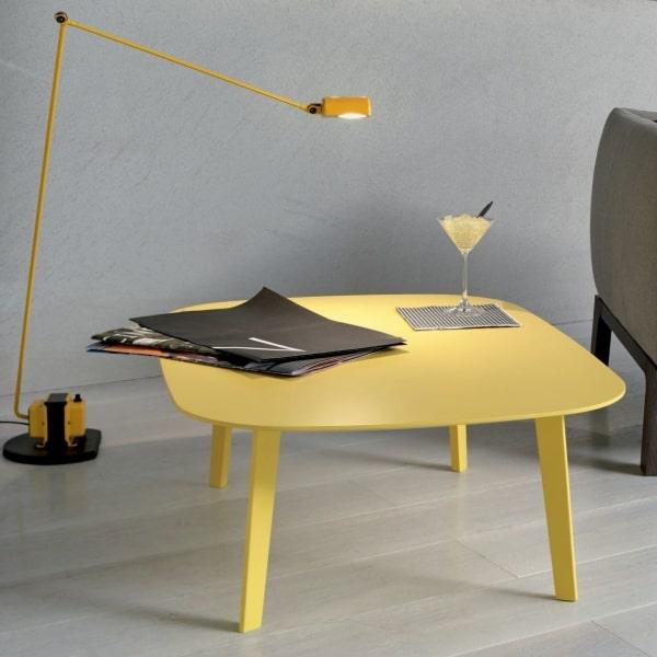 Tavolino da salotto giallo Icaro
