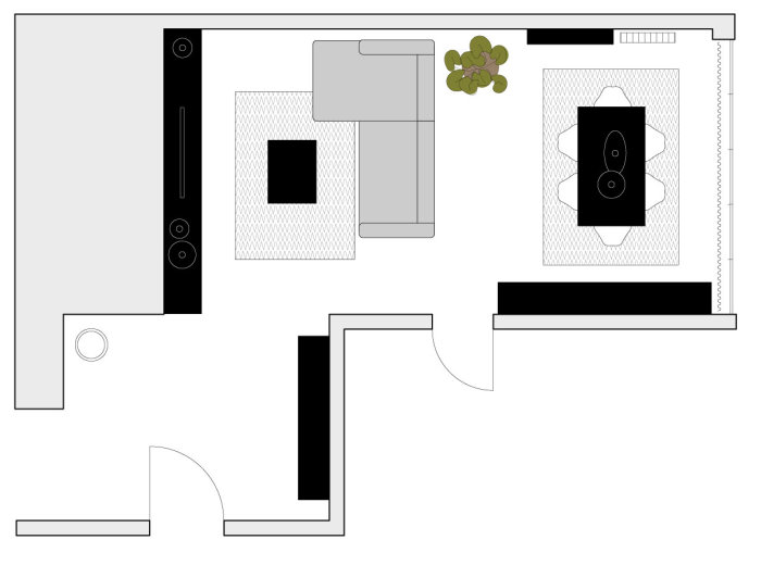 arredaclick blog - sala da pranzo e salotto insieme: come arredare ... - Illuminazione Soggiorno E Sala Da Pranzo 2