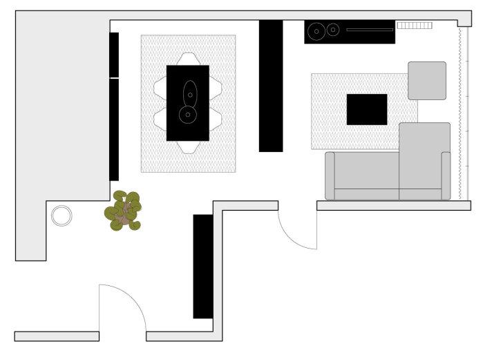 Idee arredare sala da pranzo e salotto insieme come organizzare gli spazi arredaclick - Disposizione salotto sala pranzo ...
