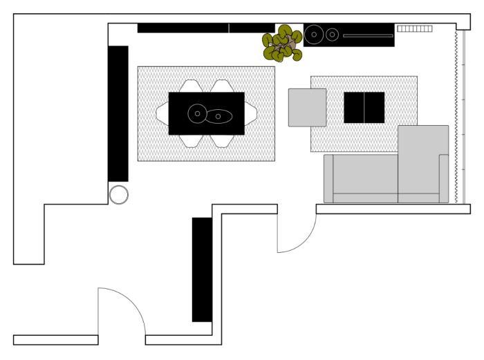Idee arredare sala da pranzo e salotto insieme come - Disposizione salotto sala pranzo ...