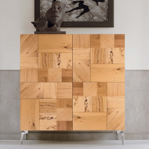 Madia con ante in legno riciclato Serafina