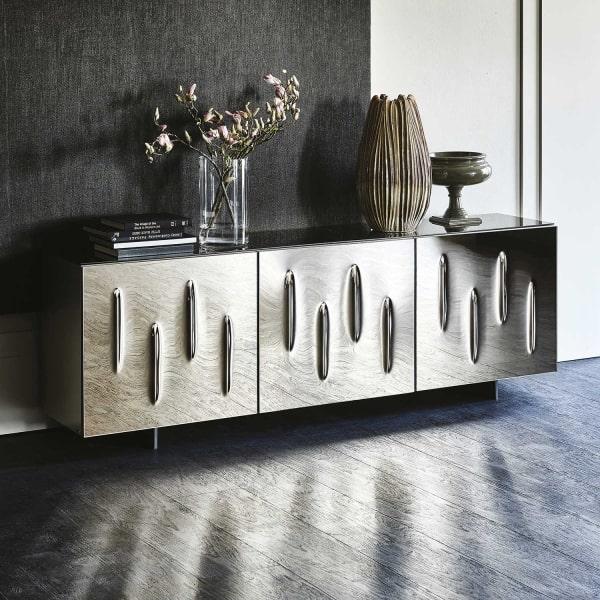 Credenza di design con ante a specchio Carnaby