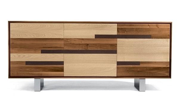 Credenza patchwork in legno Aomori