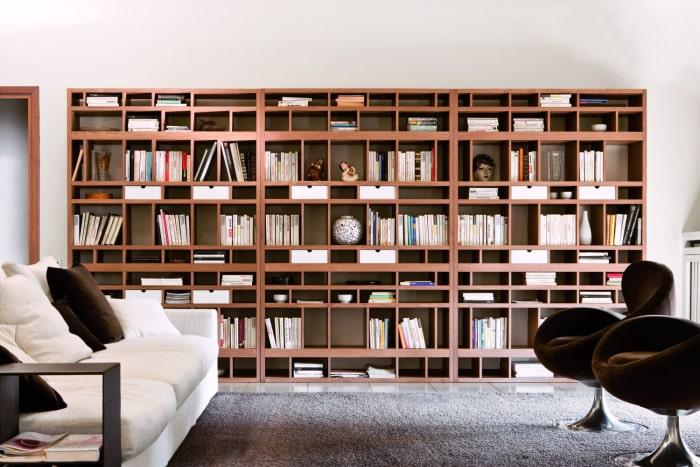 Libreria in legno a tutta parete Babele