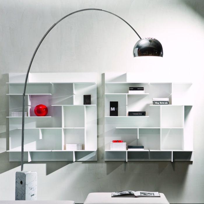 Libreria sospesa modulare bianca Maze