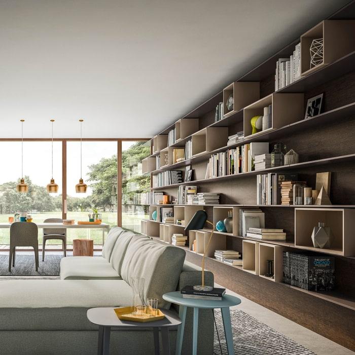 Composizione di mensole per pareti intere - Collezione Plan