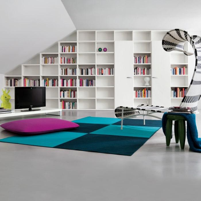 Libreria su misura per mansarda Almond