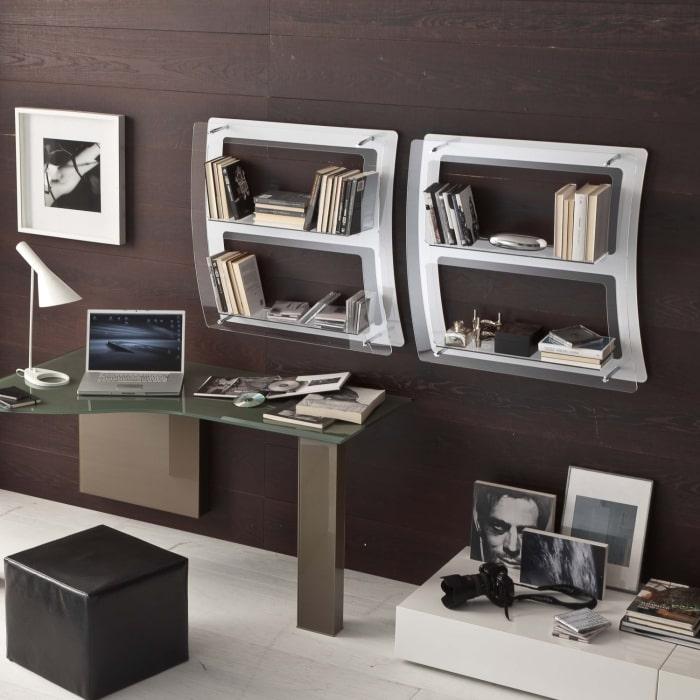 Libreria da parete in plexiglass trasparente Eris