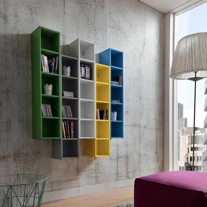 Libreria modulare colorata Bellatrix