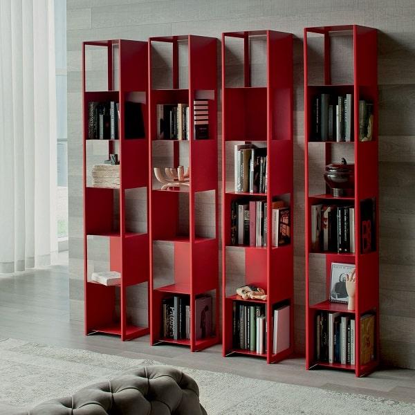 Libreria laccata rossa Joker