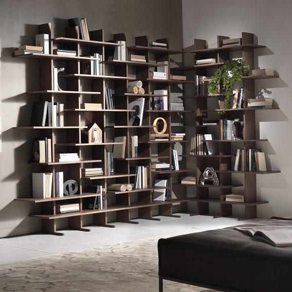 Libreria angolare in legno Elisabeth