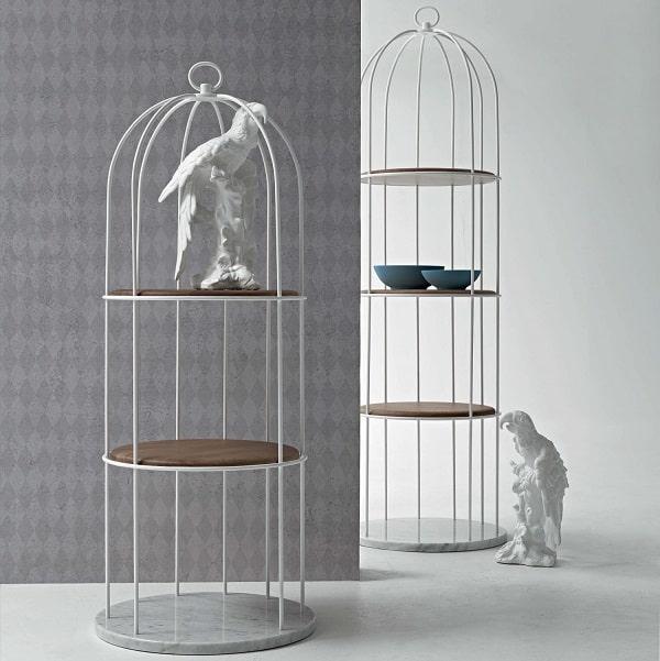 Libreria di design a forma di gabbia Tweet