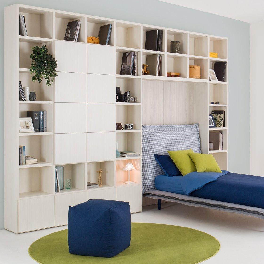Mensole per soggiorno moderno mensole moderne per for Mensole alluminio ikea