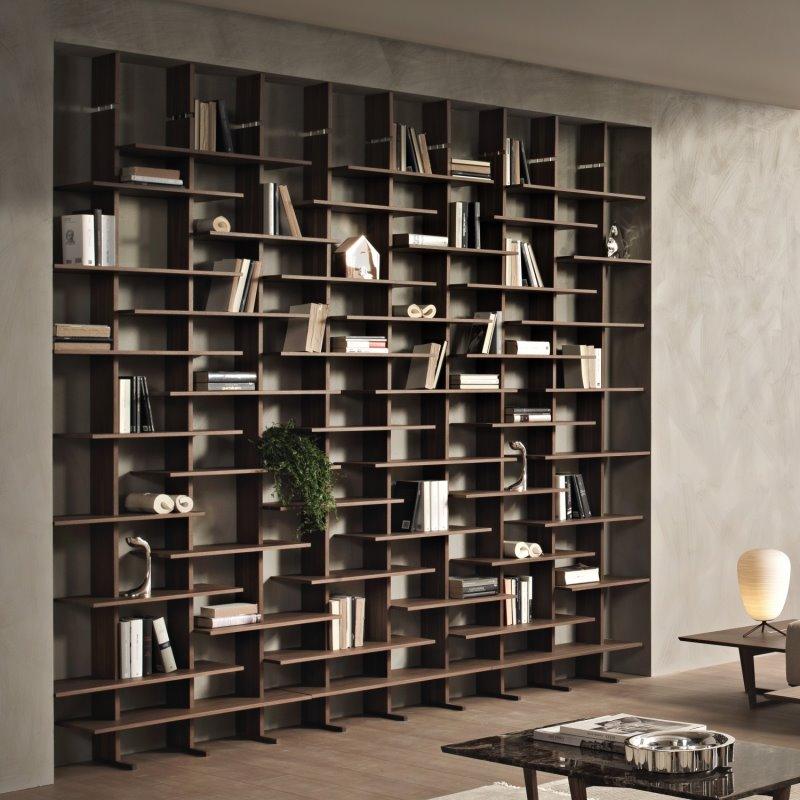 Libreria in legno modulare con tanti ripiani - Libreria Queen
