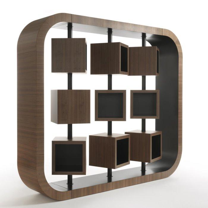 Idee le migliori librerie per la casa di un lettore for Mobili divisori design