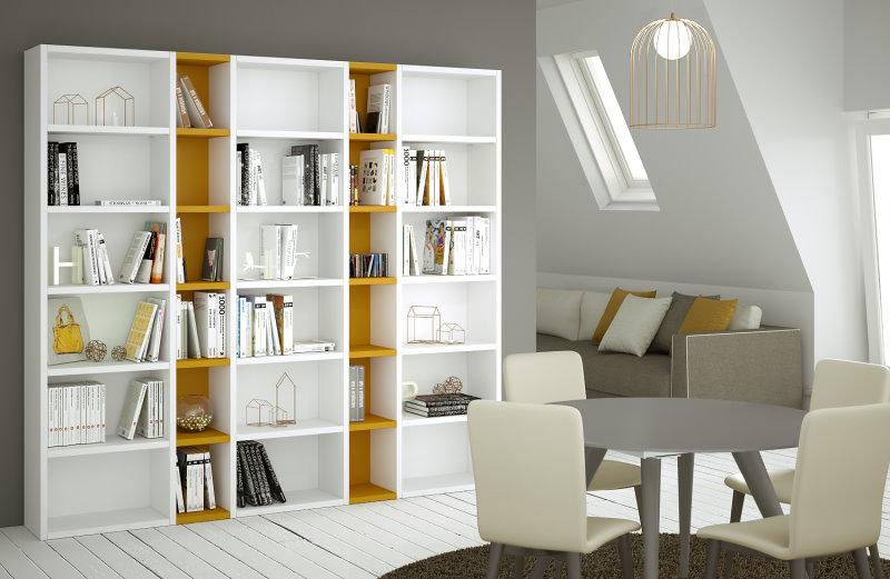 Libreria componibile, dimensioni e colori a scelta - Libreria Almond