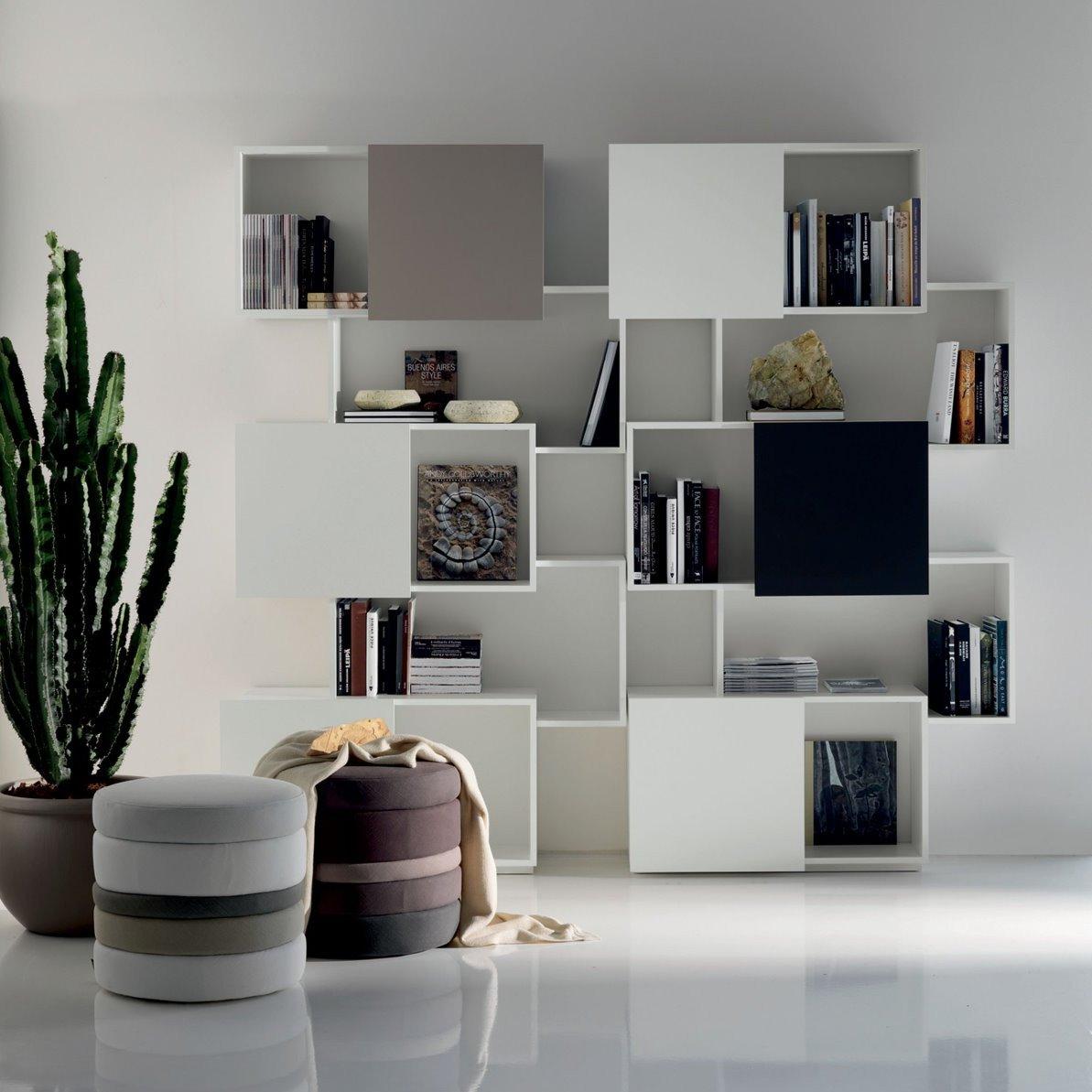 Mobili per ingresso con libreria design casa creativa e - Libreria con ante ikea ...