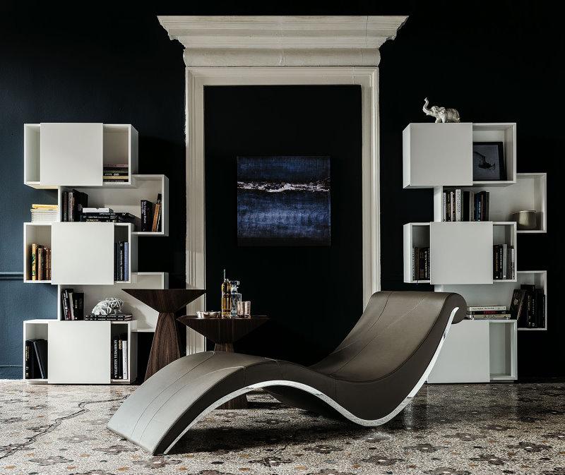 Stanza da destinare alla lettura con librerie e comoda seduta - libreria Piquant