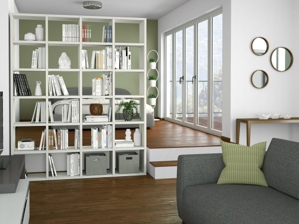 Libreria dividi ambienti Almond