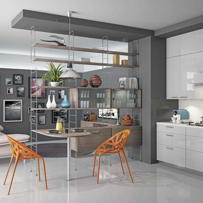 arredaclick blog - il progetto: un'idea per dividere cucina e sala ... - Mobili Divisori Cucina Soggiorno