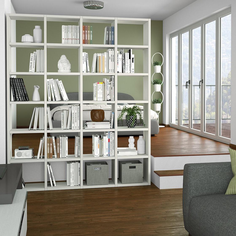 Librerie divisorie soggiorno ce23 regardsdefemmes - Libreria divisoria con porta ...