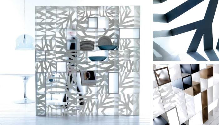 Libreria componibile in metallo Domino