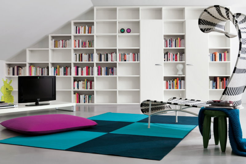 Libreria componibile per mansarda - libreria Almond