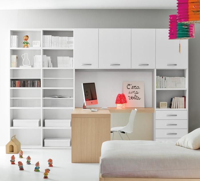 Idee la camera dei ragazzi organizzare studio relax e for Come arredare una parete attrezzata