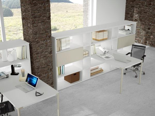 Libreria separatore per ufficio Almond