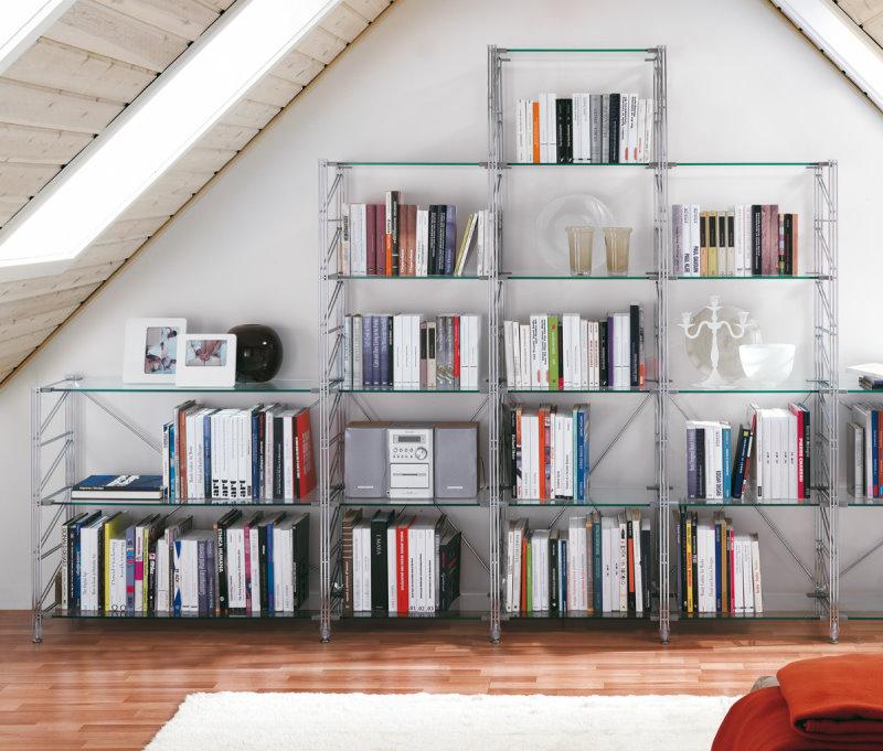 Scaffali libreria componibili in alluminio - Libreria Socrate