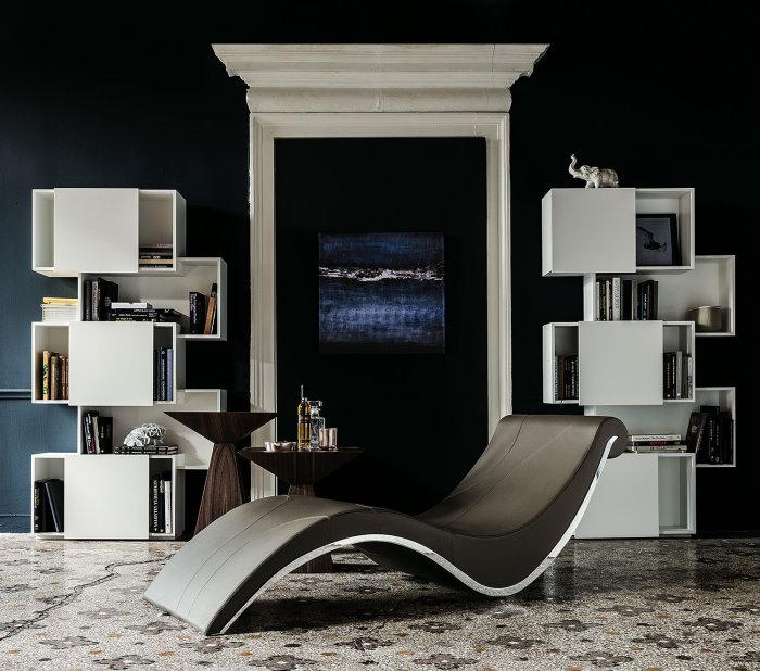 Librerie Piquant + chaise longue Sylvester