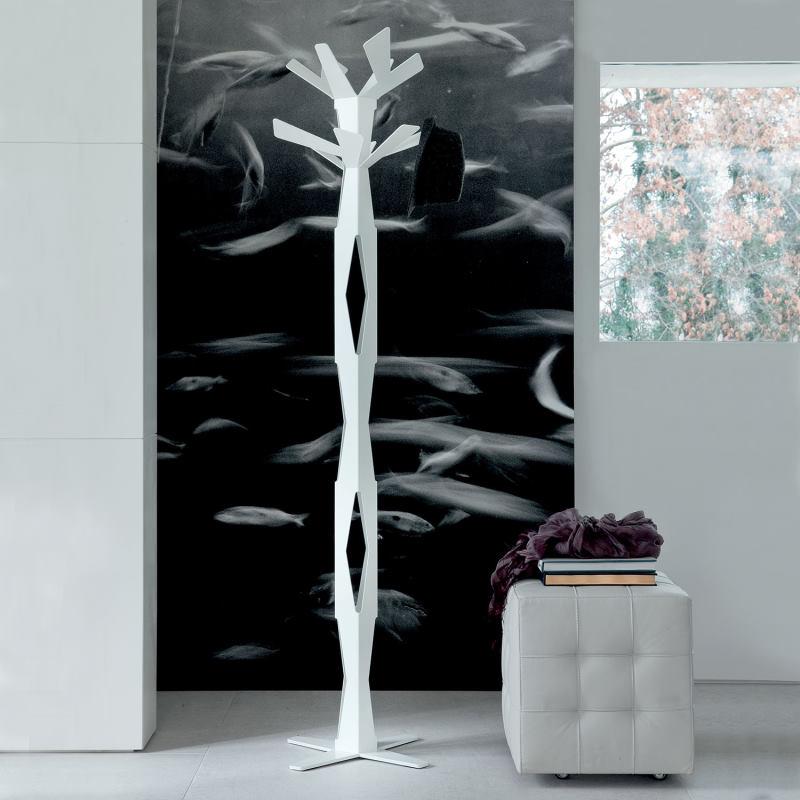 Appendiabiti piantana bianco in metallo - Baum