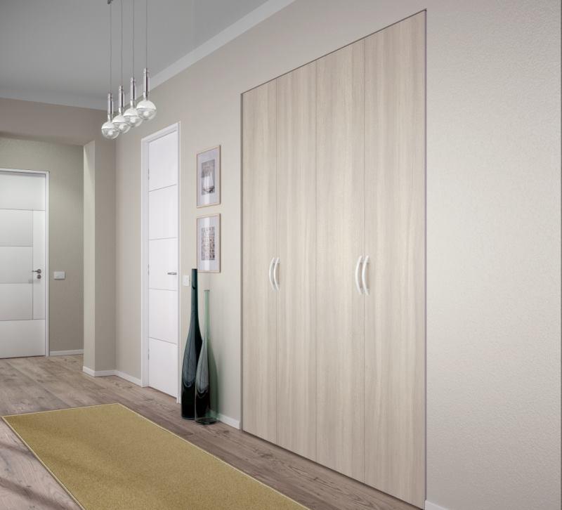 Corridoio con nicchia arredata con armadio su misura - Tilt