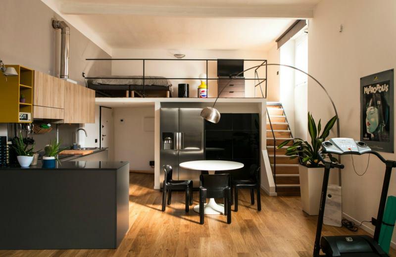 Realizzazione progetto di loft con soppalco