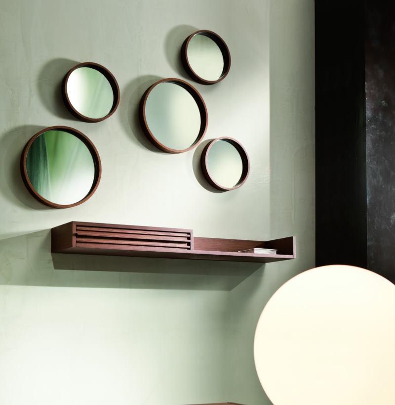 Consolle in legno sospesa a muro con cassetto - Regolo