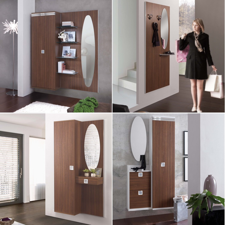 Idee - Mobili ingresso in legno noce: una scelta calda e ...
