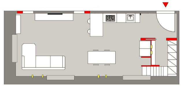Progetto di Easy Relooking per loft con ingresso soppalcato