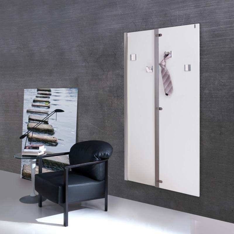 Specchio con apertura a libro che nasconde 4 appendini - Narciso