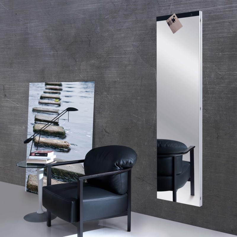 Specchio lungo figura intera con inserto magnetico - Narciso