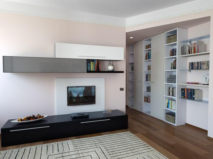 Progetto per arredare due pareti del soggiorno