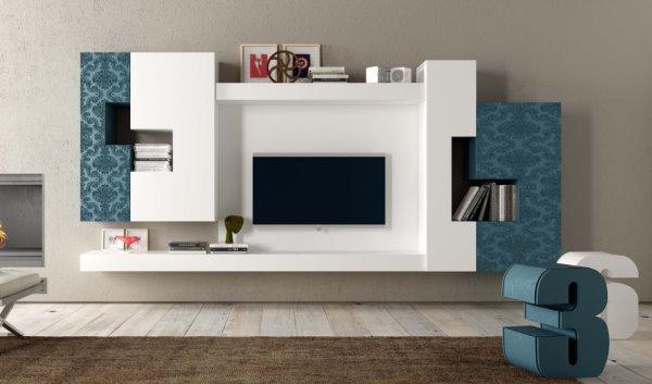 Idee pareti attrezzate per arredare un soggiorno moderno