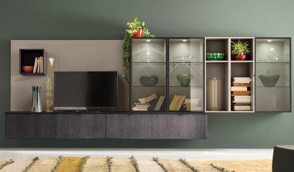 Idee 10 pareti attrezzate per arredare un soggiorno for Soluzioni soggiorno