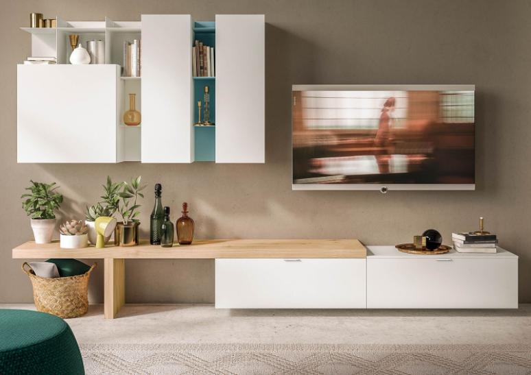 Soggiorno piccolo con divano e tavolo arredamento soggiorno idee classiche e moderne - Arredare salotto e sala da pranzo insieme ...