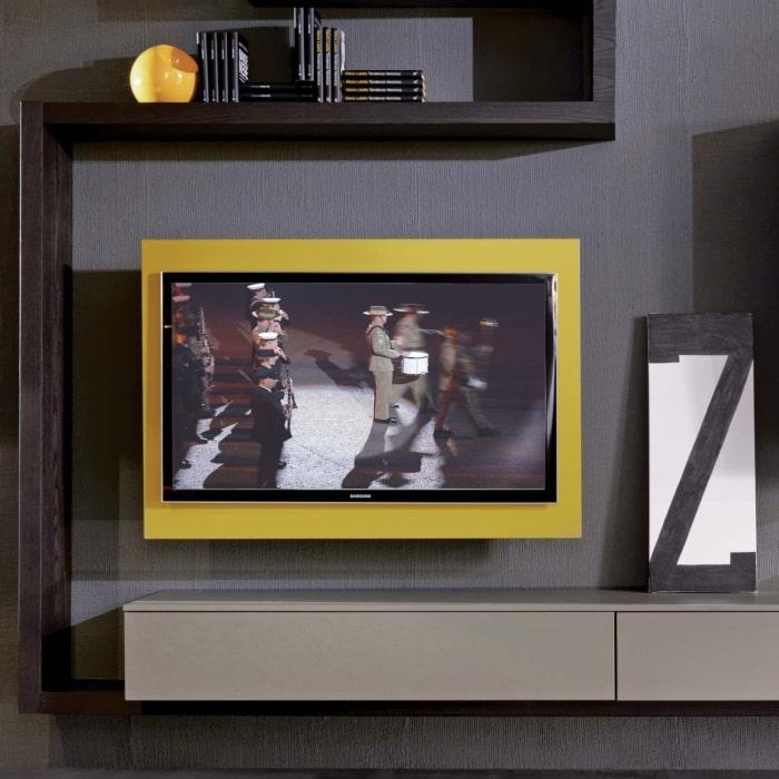 Porta TV girevole e apribile Rack