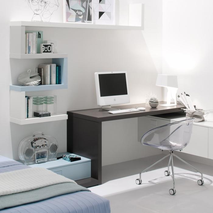 Mensole sopra scrivania hw83 pineglen for Scrivania soggiorno