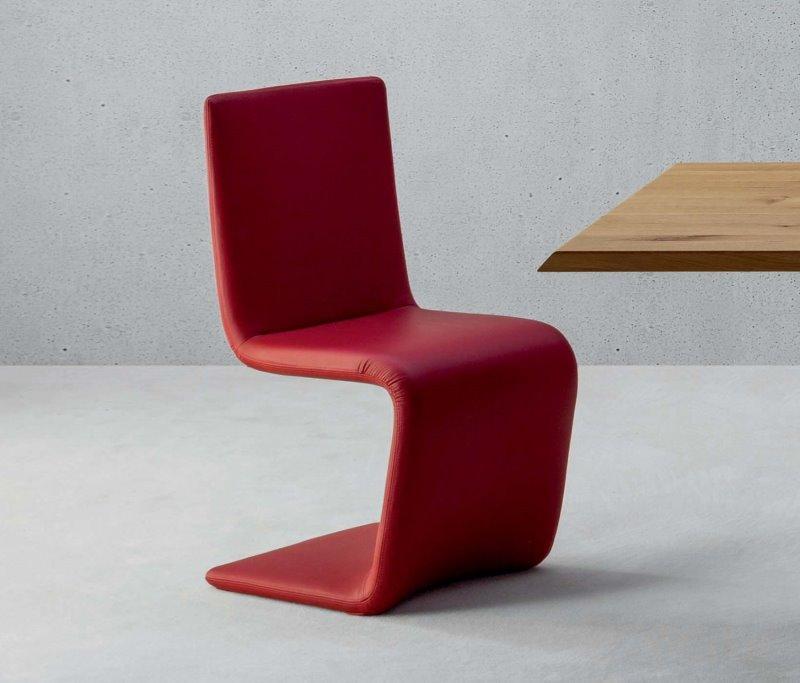 Sedia di design in pelle rossa - Venere