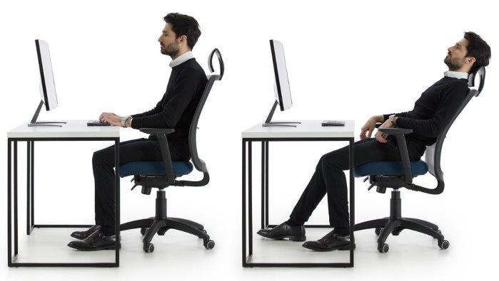 Sedia da ufficio con poggiatesta e schienale traspirante a rete Bill