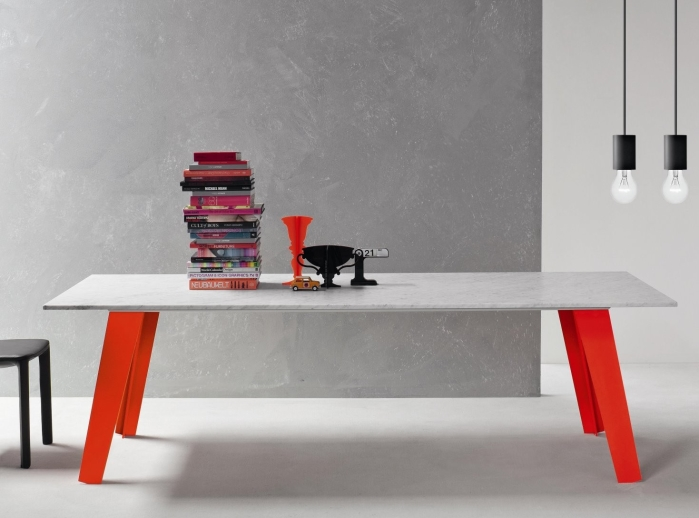 Arredaclick blog tavolo da pranzo resistente e pratico for Tavolo marmo design