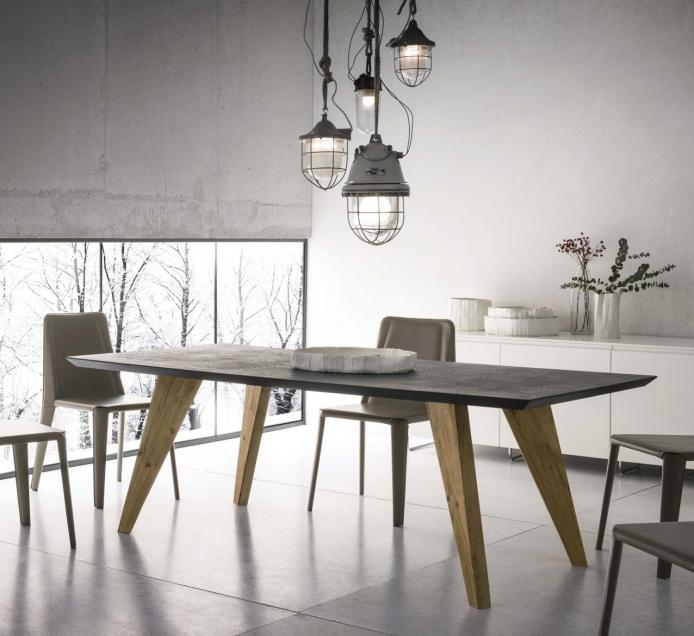 idee tavolo da cucina resistente e pratico 4 cemento