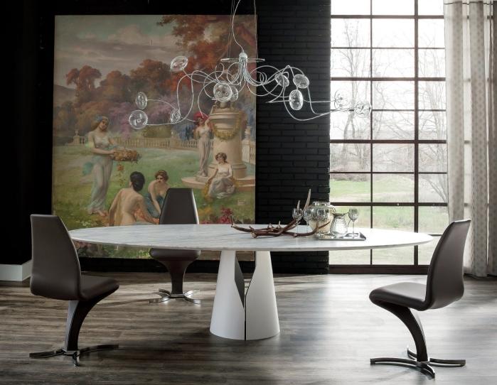 Idee tavolo da pranzo resistente e pratico 5 i tavoli - Tavolo ovale cucina ...